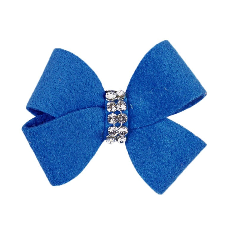 Dog Bow - Royal Blue Nouveau Dog Bow by Susan Lanci