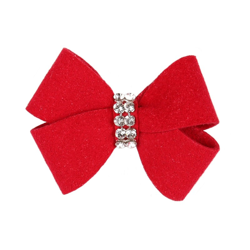 Dog Bow - Red Nouveau Dog Bow by Susan Lanci