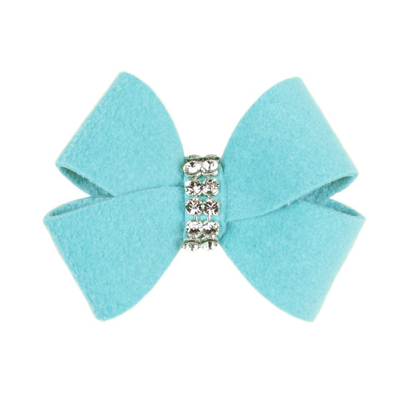 Dog Bow - Tiffy Blue Nouveau Dog Bow by Susan Lanci