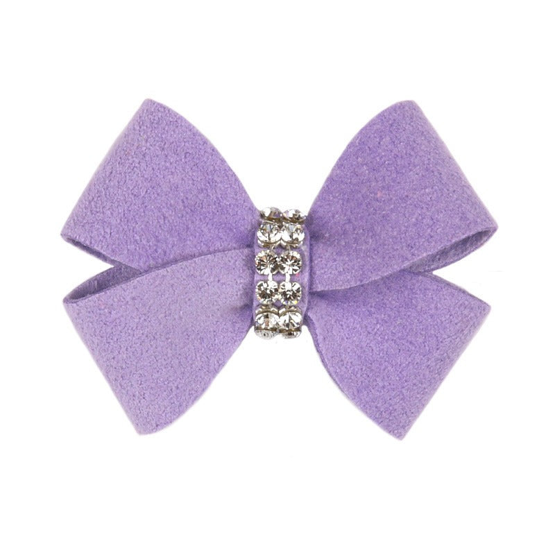 Dog Bow - Ultraviolet Nouveau Dog Bow by Susan Lanci