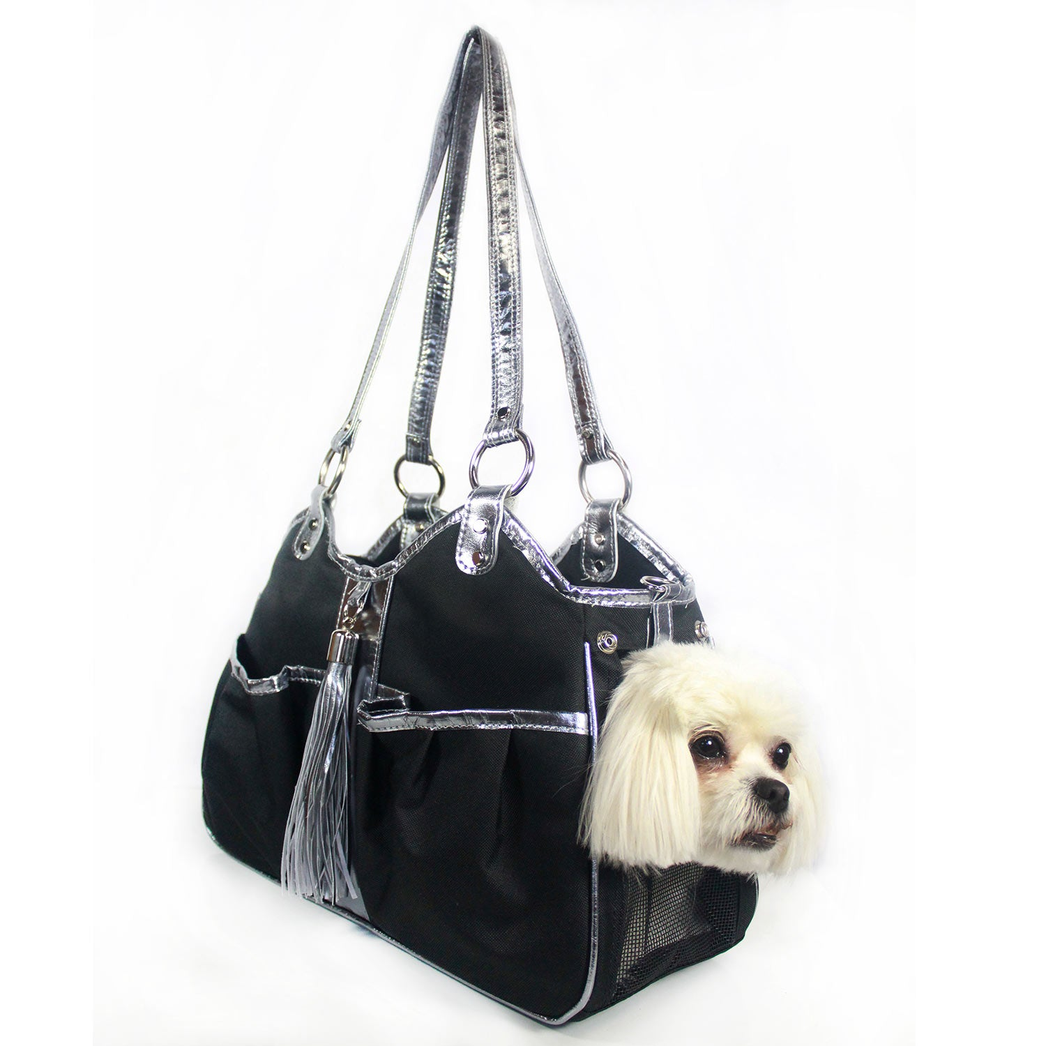 Metro Classic Pet Carrier: Black & Silver