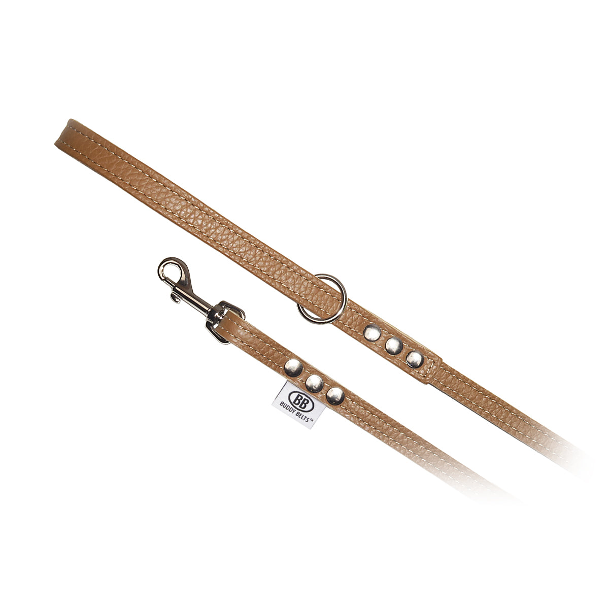 Pebble Leather Buddy Belt Leash: Tan