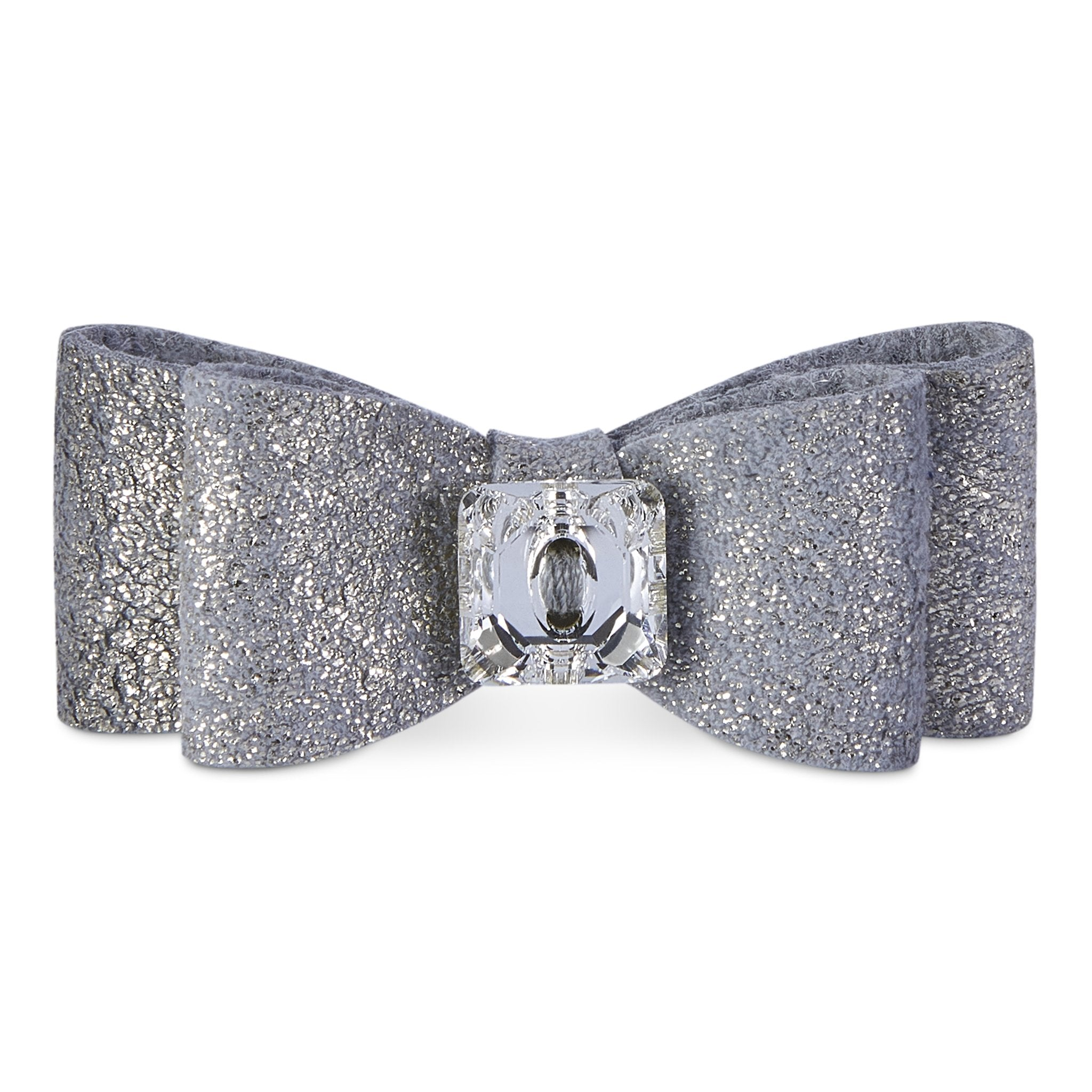 Dog Bows - Platinum Glitzerati Big Bow Dog Hair Bows by Susan Lanci Designs