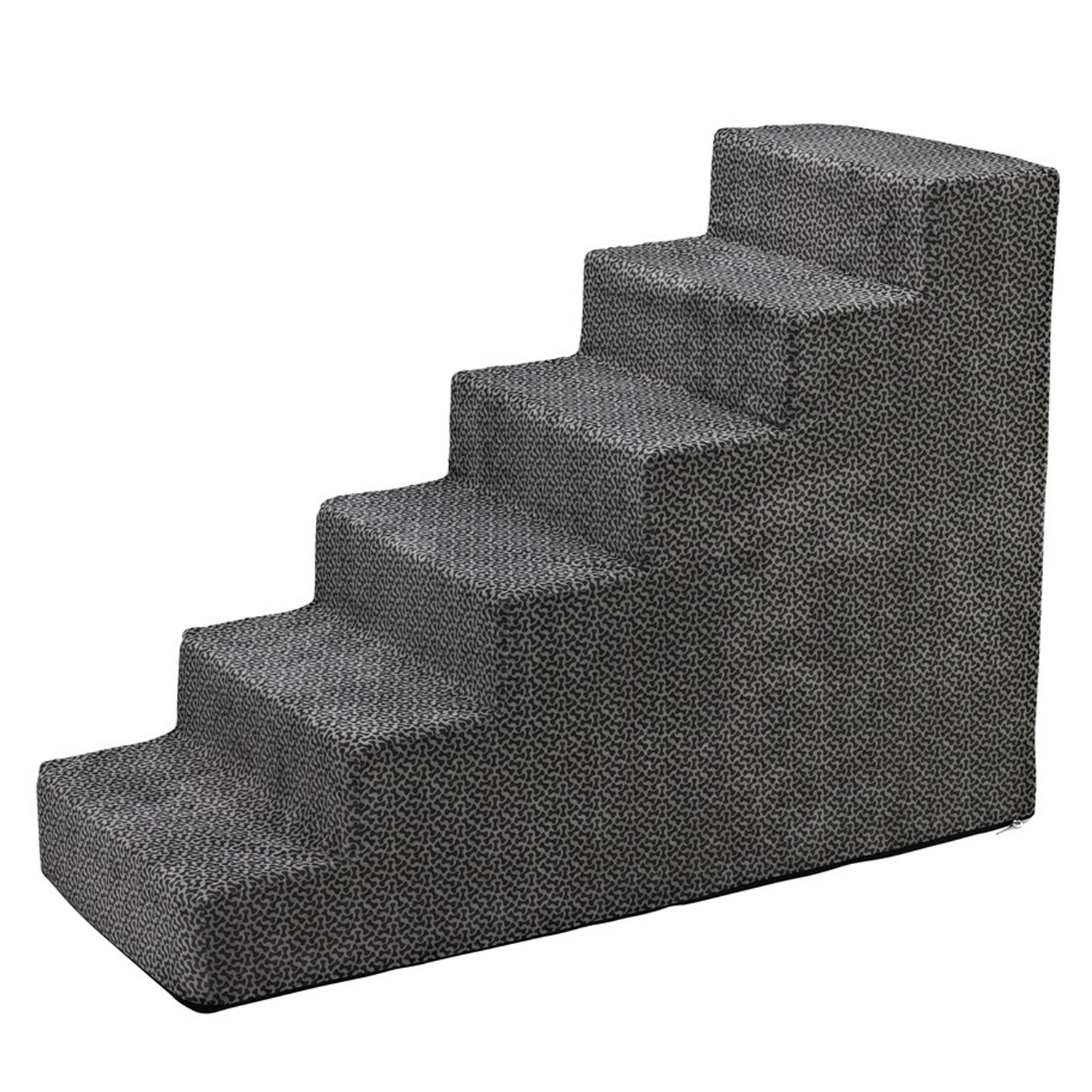 6-Step Pet Stairs: Pewter