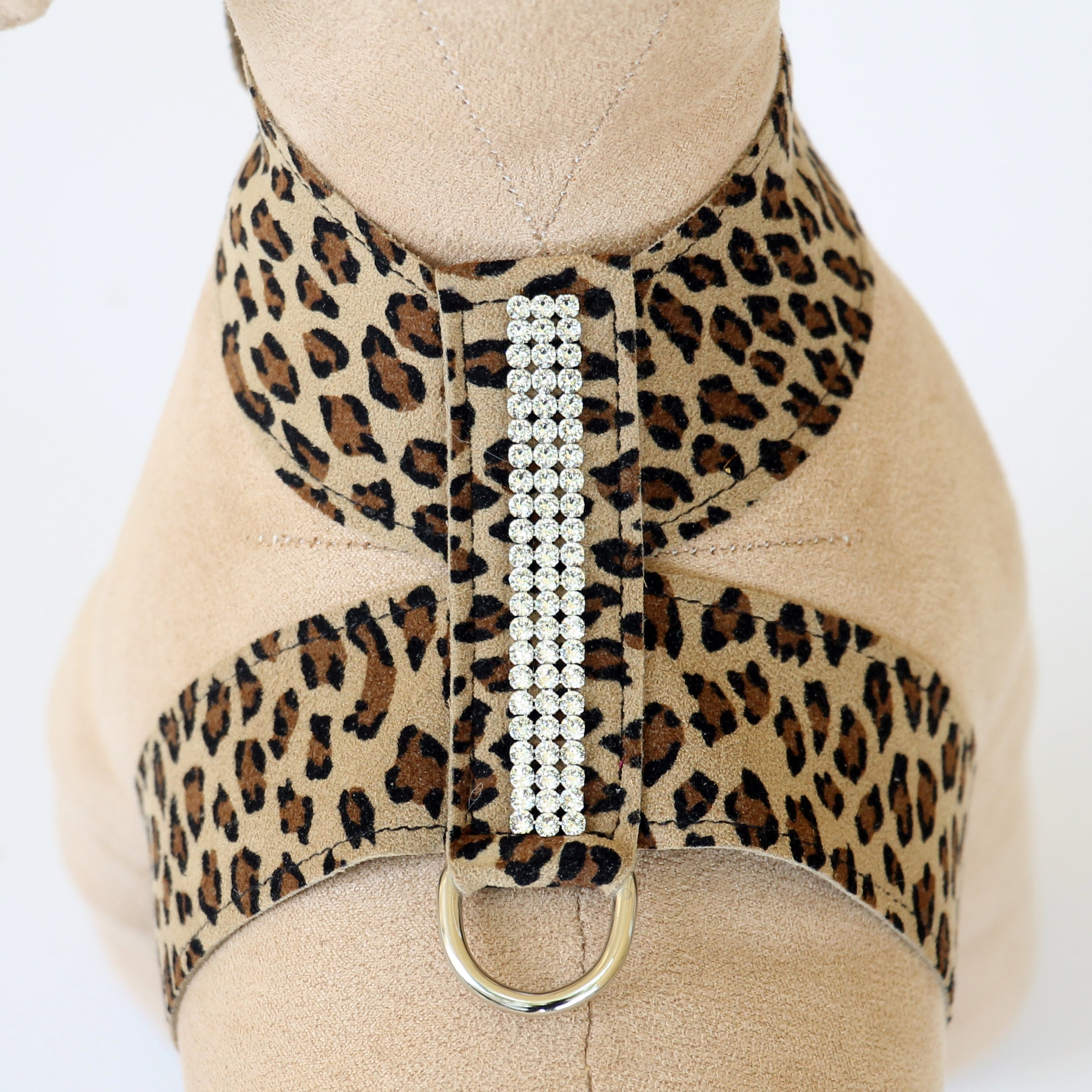 Giltmore 3-Row Crystal Pet Harness: Cheetah