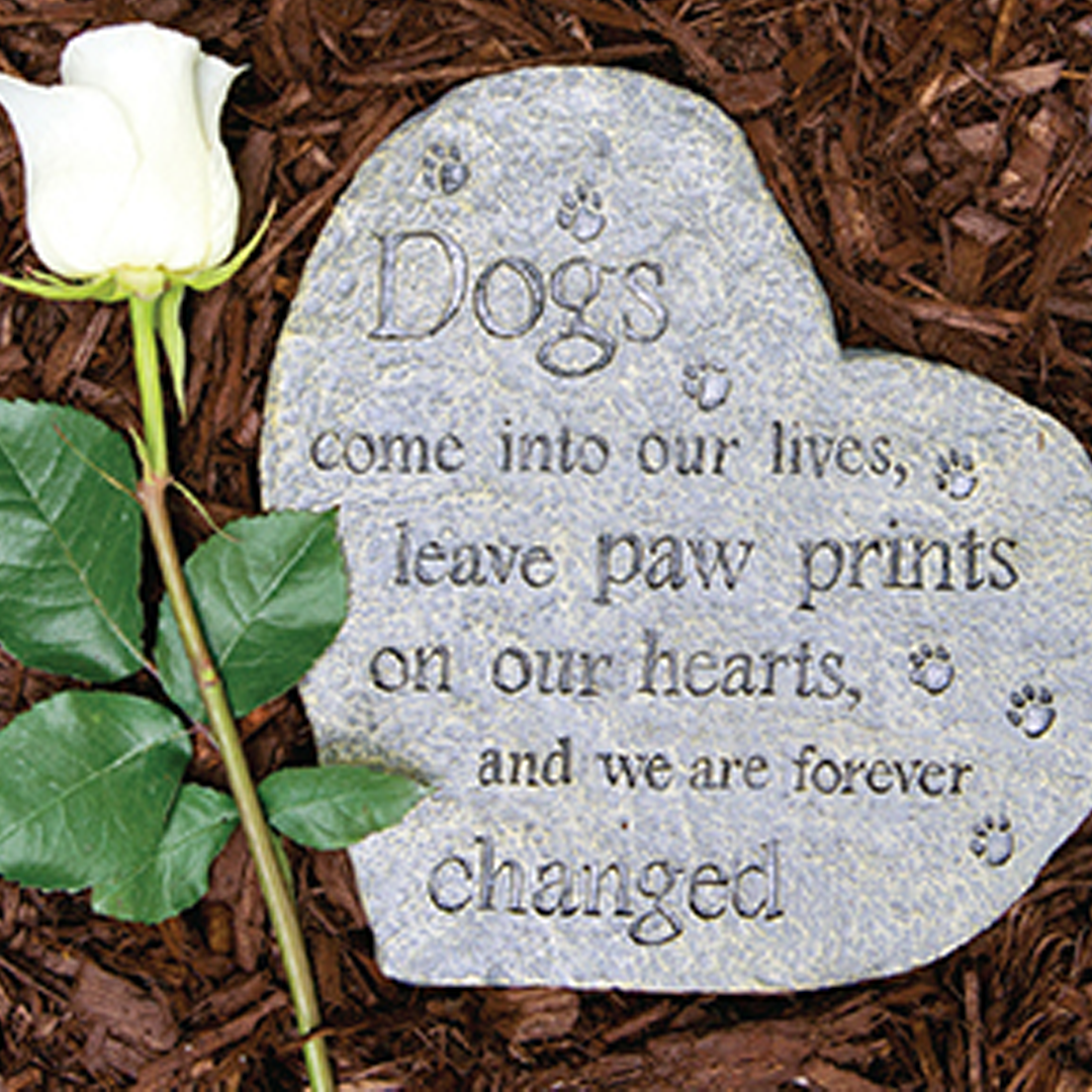 Paw Prints on our Hearts Pet Memory Stone
