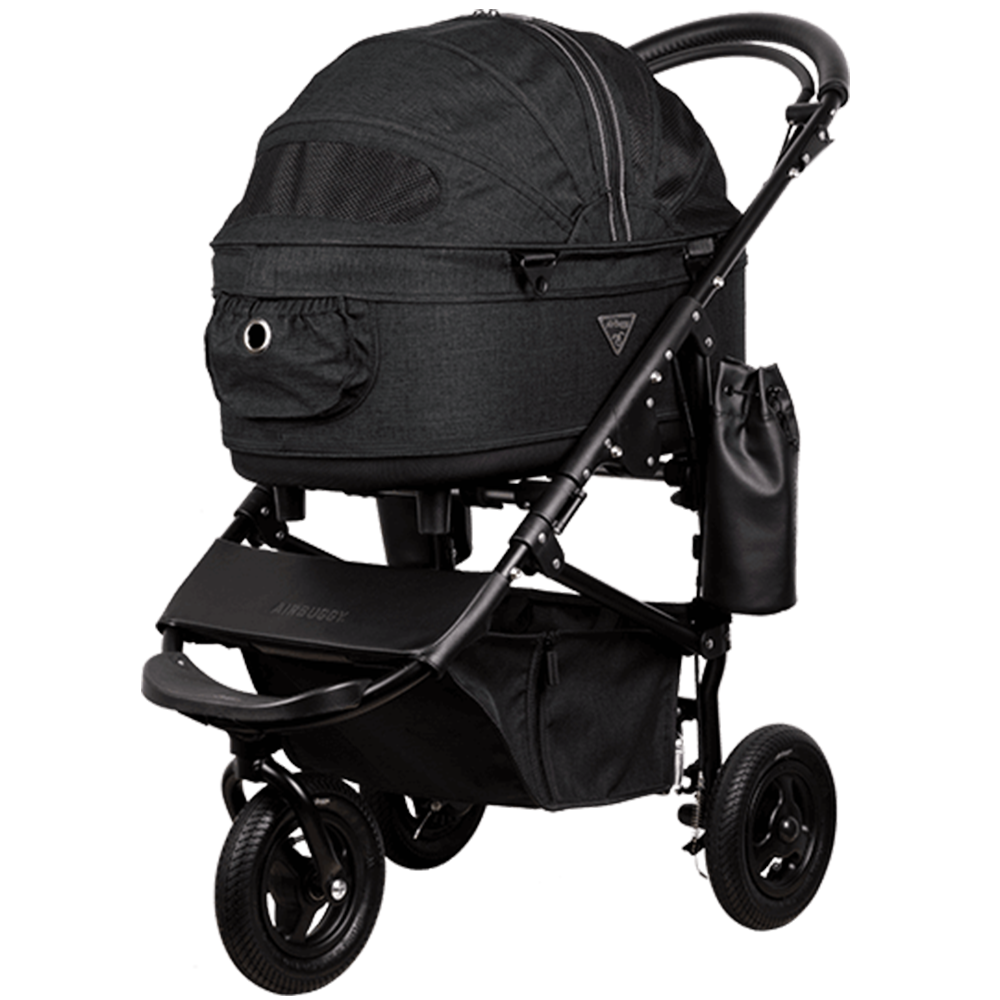 Dome 2 Brake Pet Stroller: Earth Series Black (M)