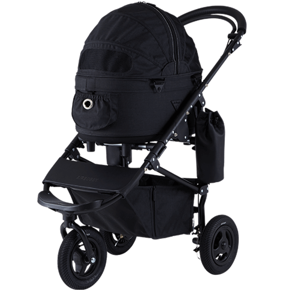 Dome 2 Brake Pet Stroller: Earth Series Black (SM)