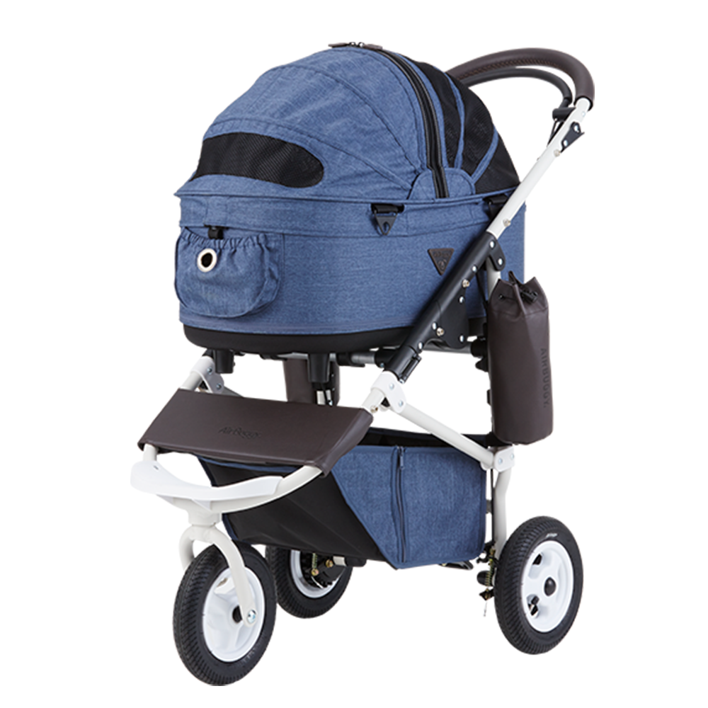 Dome 2 Brake Pet Stroller: Earth Series Blue (M)
