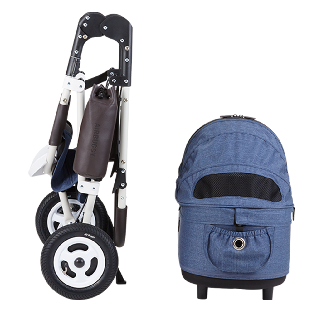 Dome 2 Brake Pet Stroller: Earth Series Blue (SM)