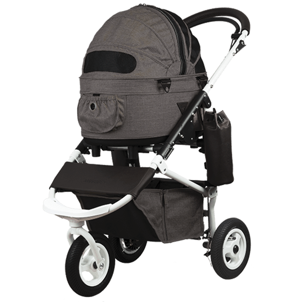 Dome 2 Brake Pet Stroller: Earth Series Brown (SM)