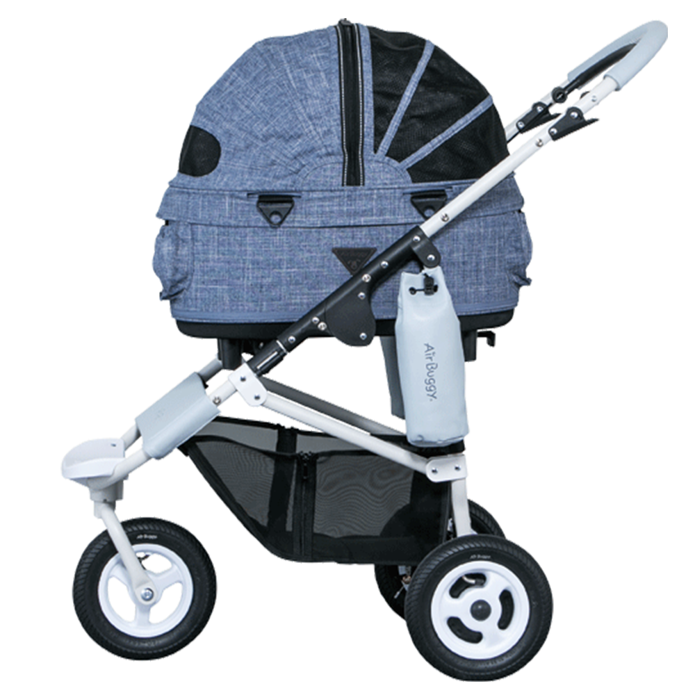 Dome 2 Brake Pet Stroller: Melange Denim (SM)