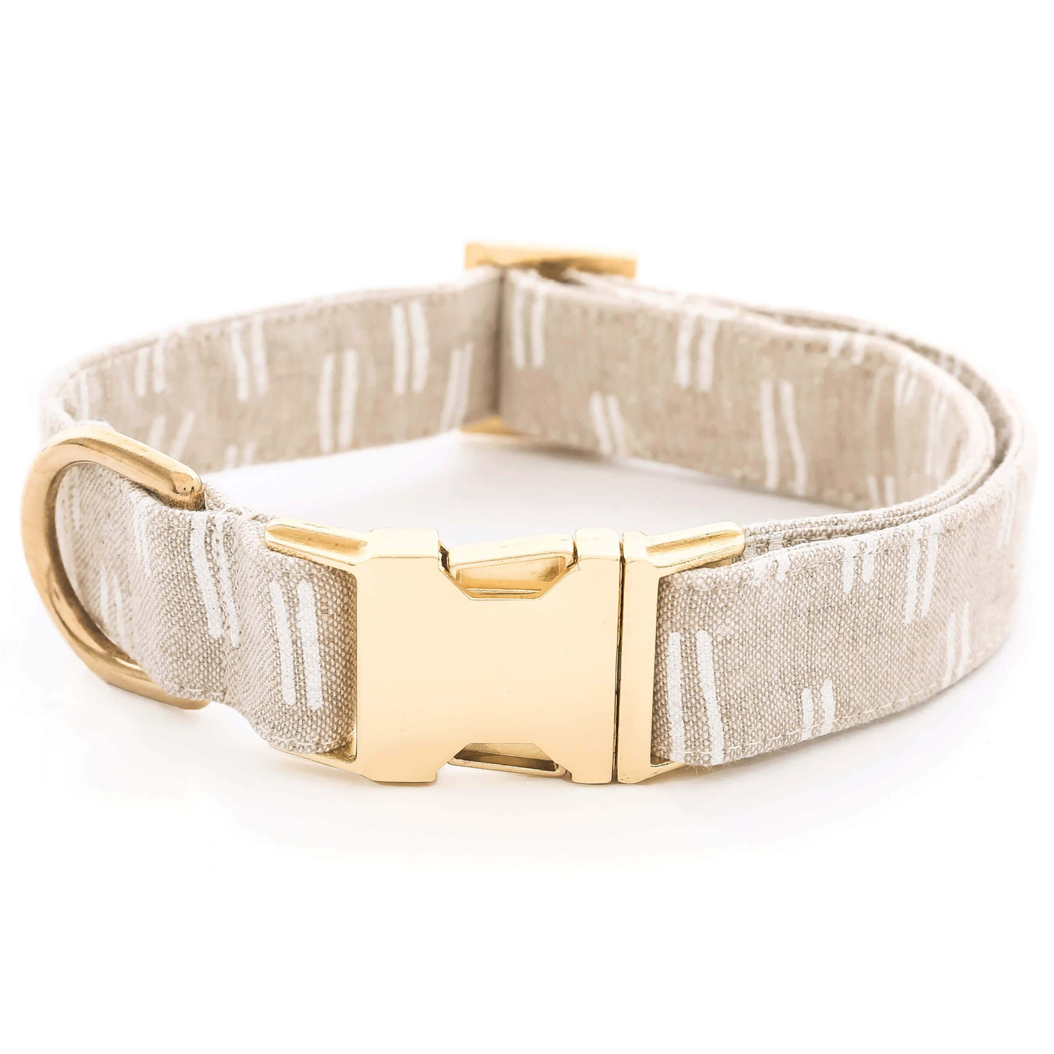 Flax Lines Dog Collar