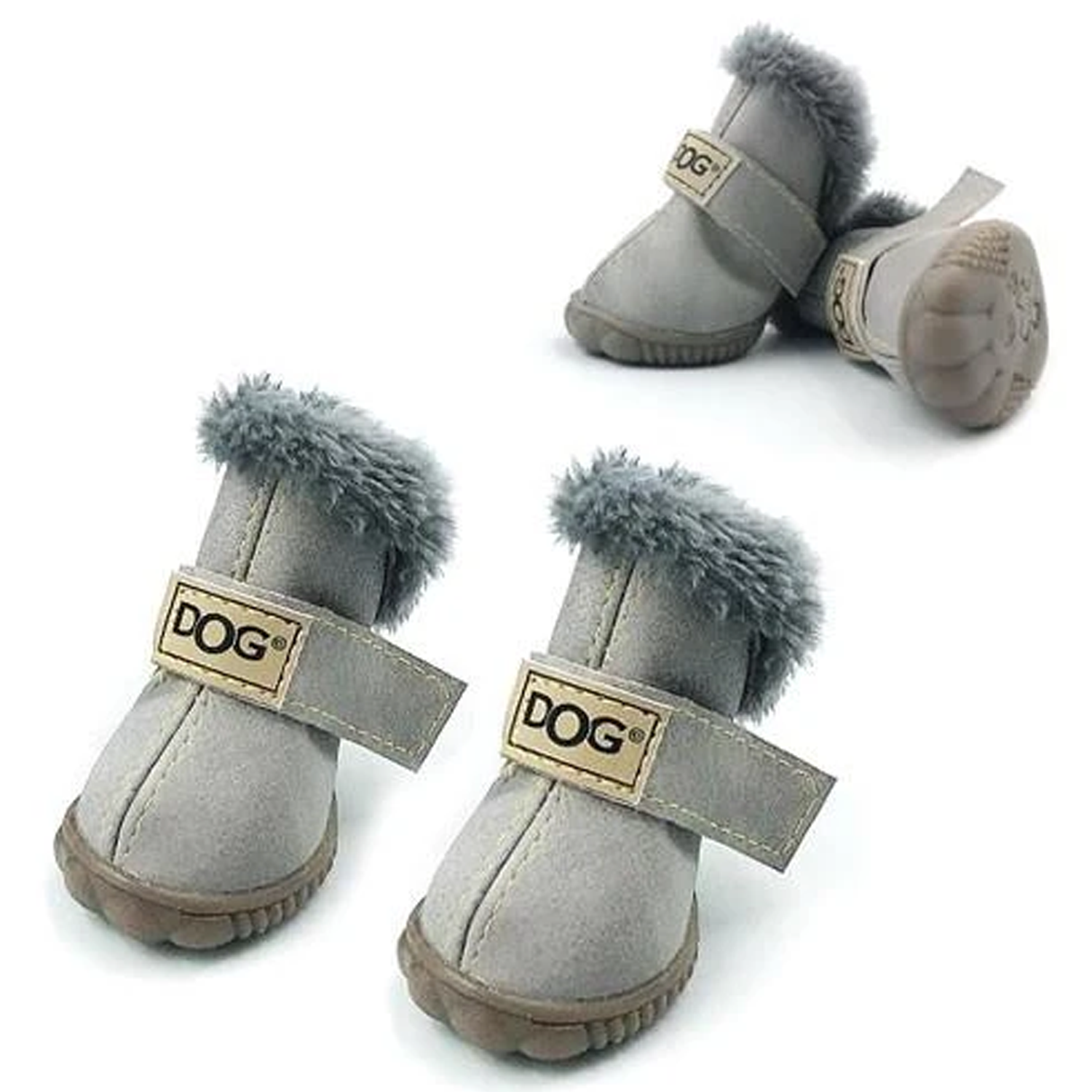 Snow Dog Boots: Grey
