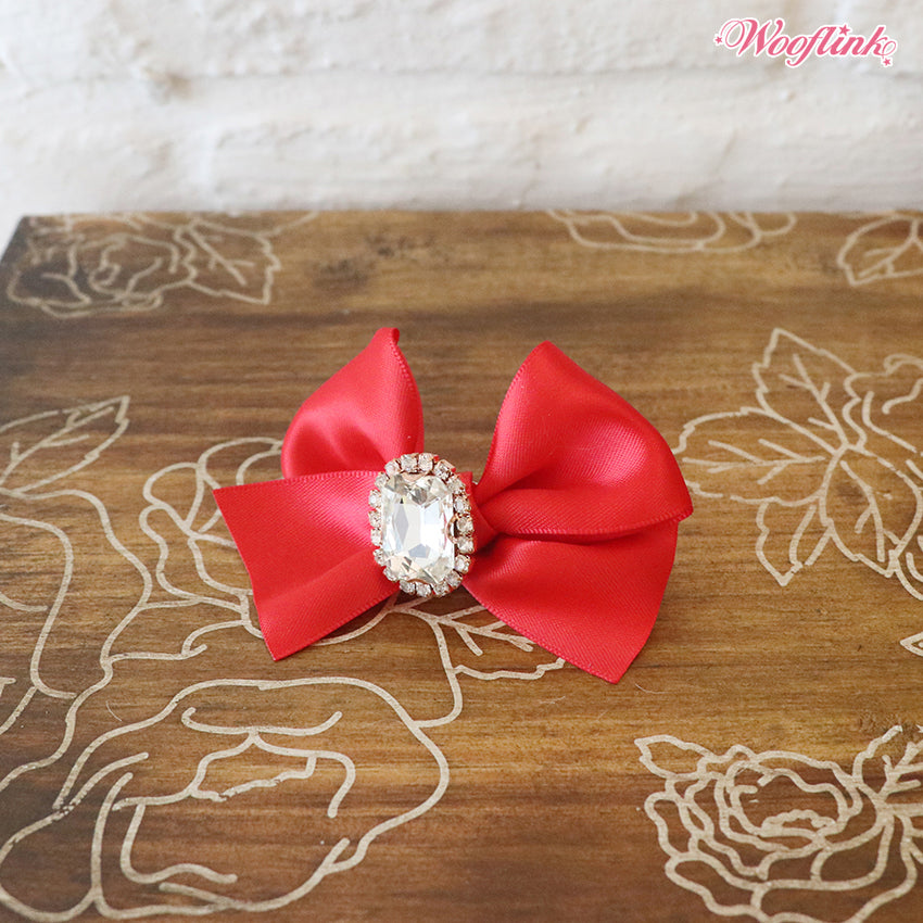 Dog Bows - Red Olivia Hair Bow by Wooflink