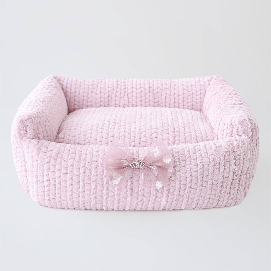 Dolce Dog Bed: Rosewater