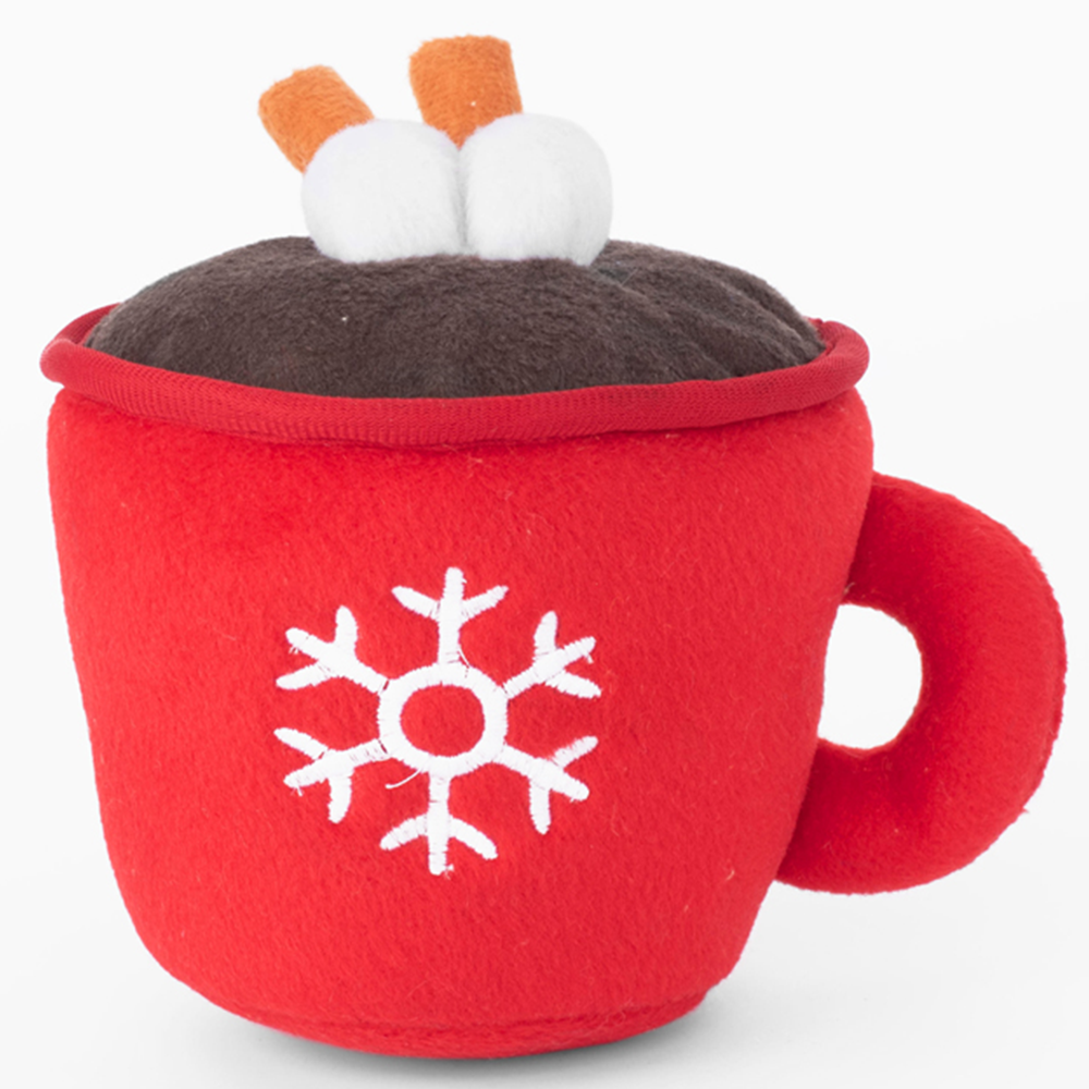 Hot Cocoa Drink Dog Toy