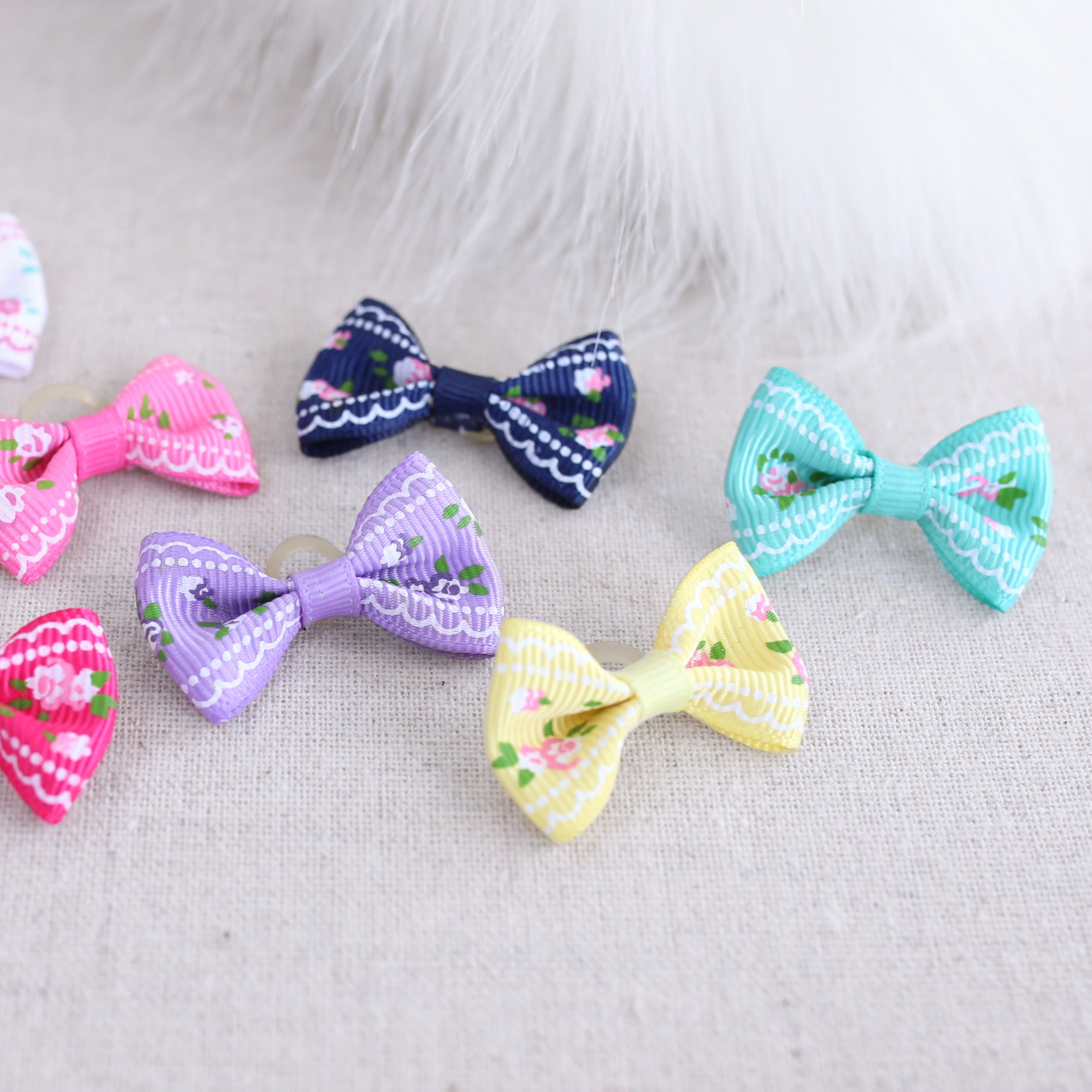 Ribbon Dog Bows