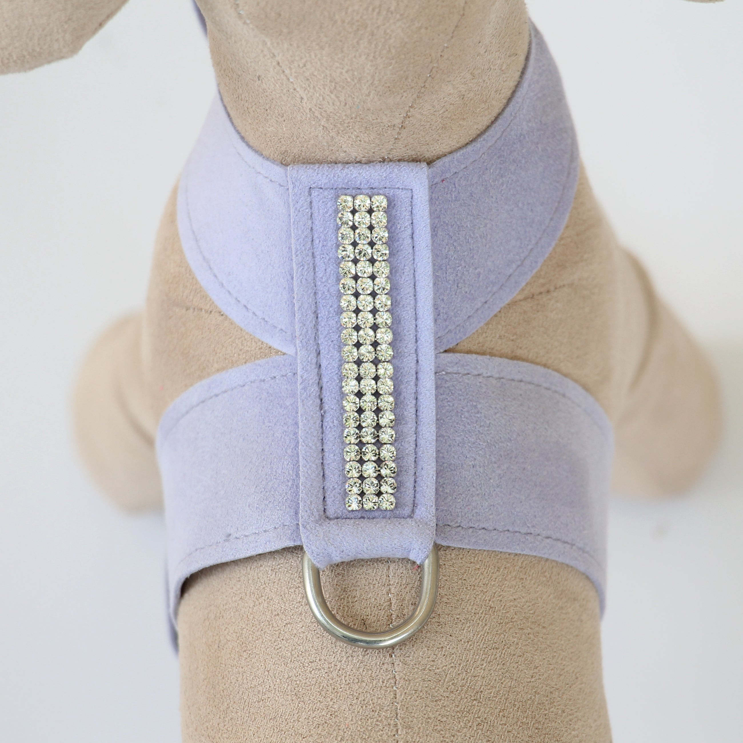 Giltmore 3-Row Crystal Pet Harness: Lilac