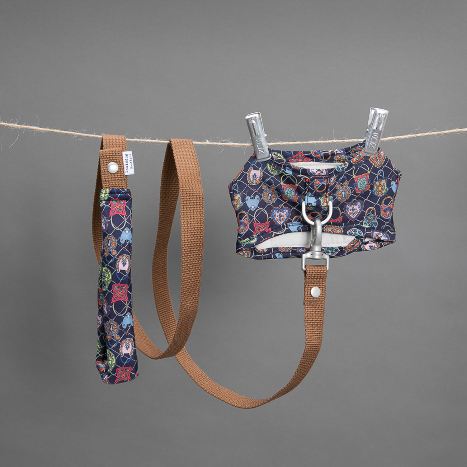 Liberty Dog Harness Set: Navy