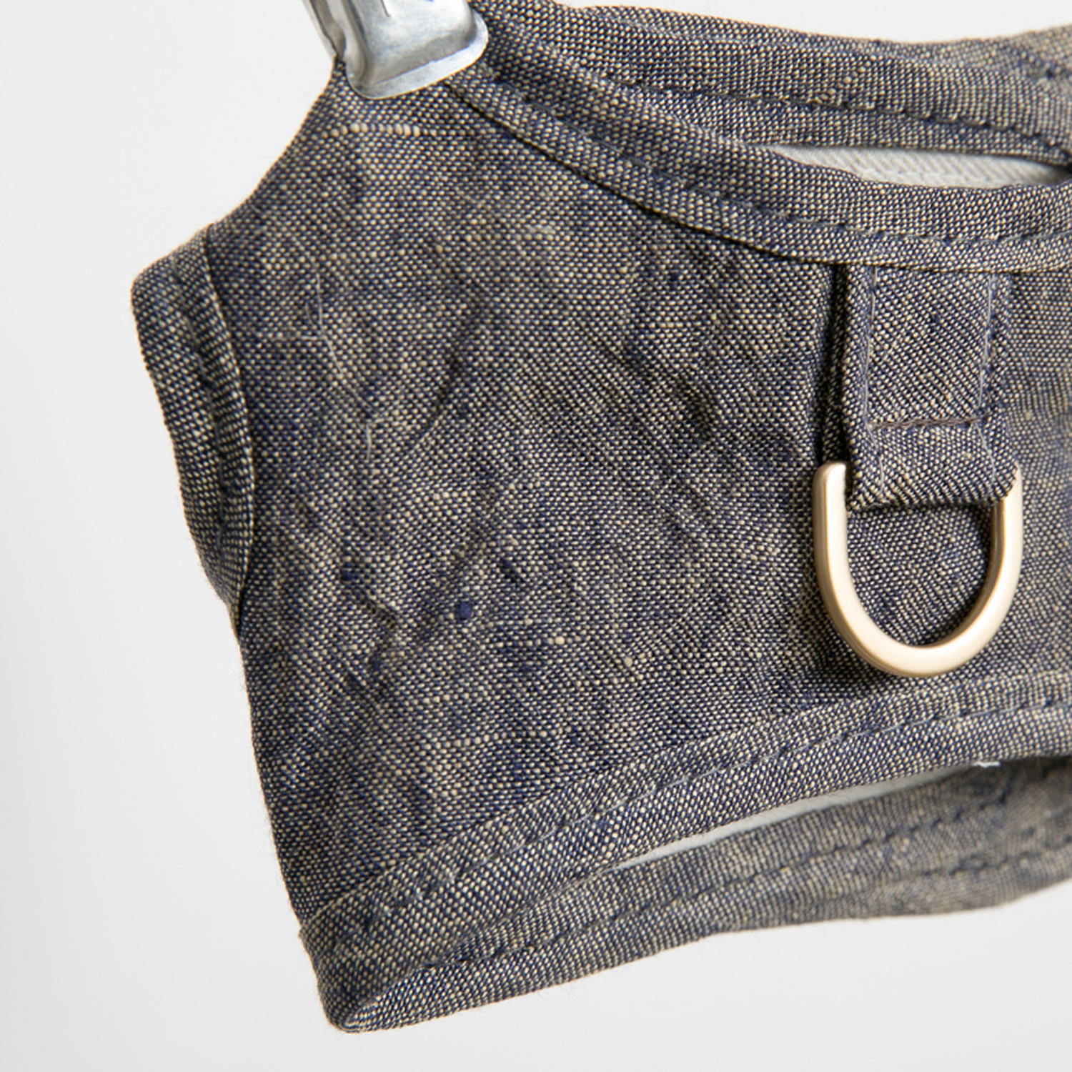 Irish Linen Dog Harness Set: Navy