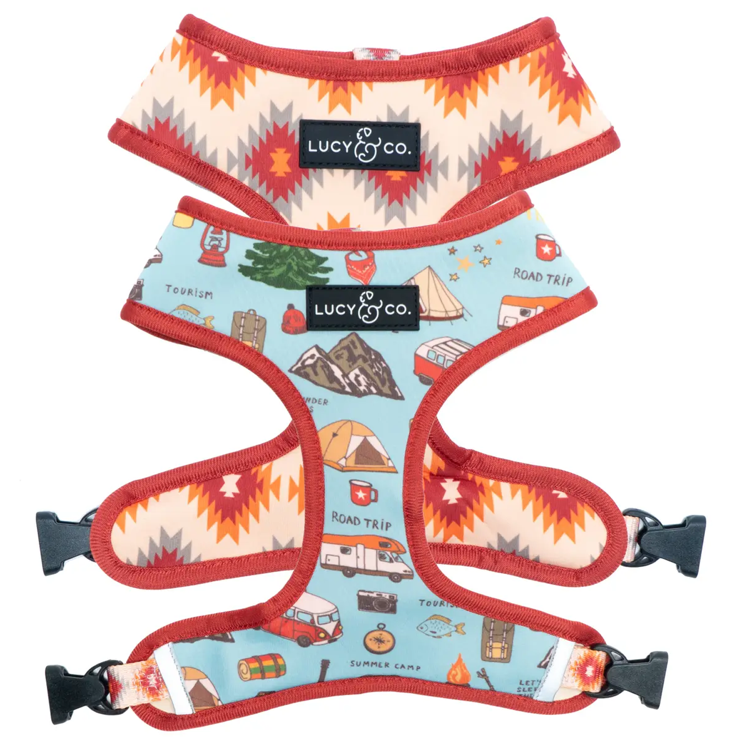 Road Trippin' Reversible Dog Harness
