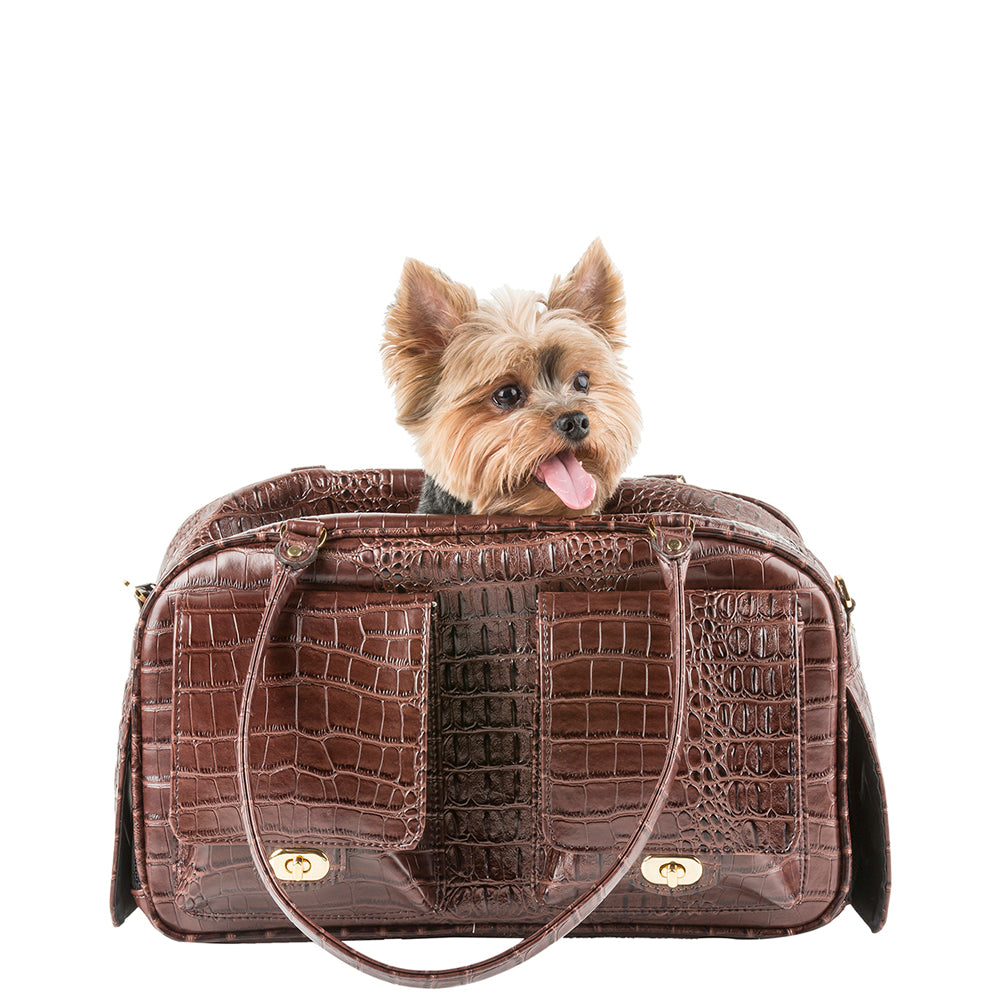 Croco Marlee Dog Carrier; Designer Pet Carrier