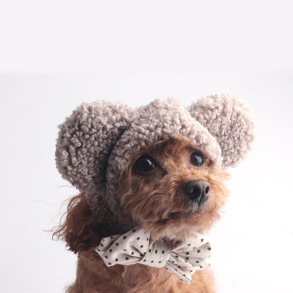 Icing Bear Dog Hat: Brown