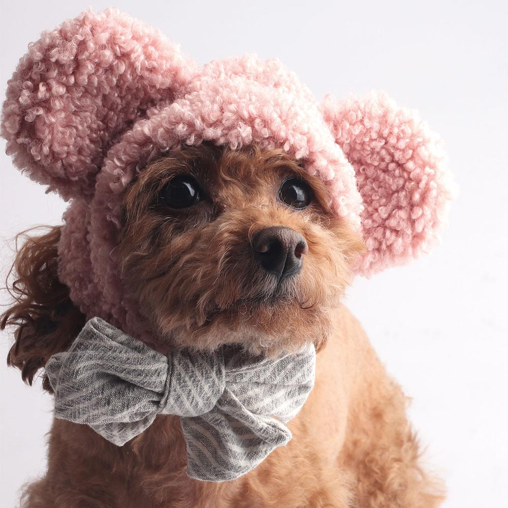 Icing Bear Dog Hat: Pink