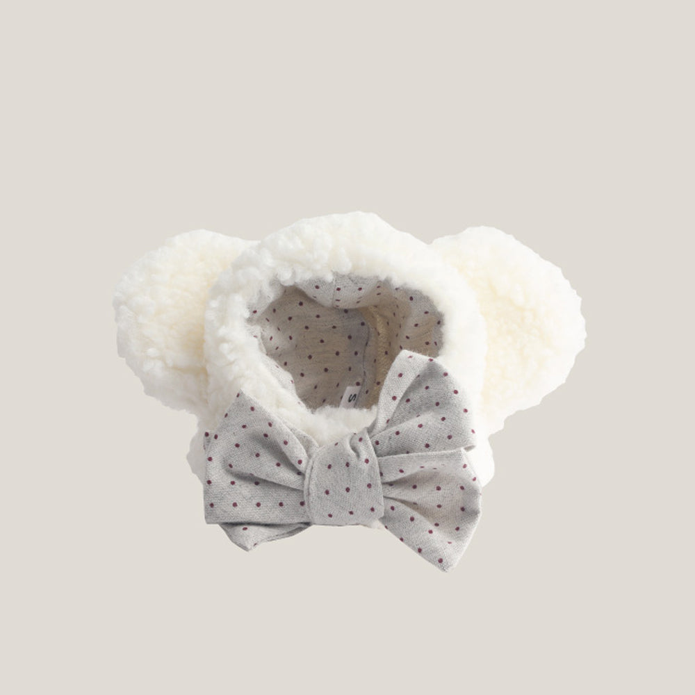 Icing Bear Dog Hat: White