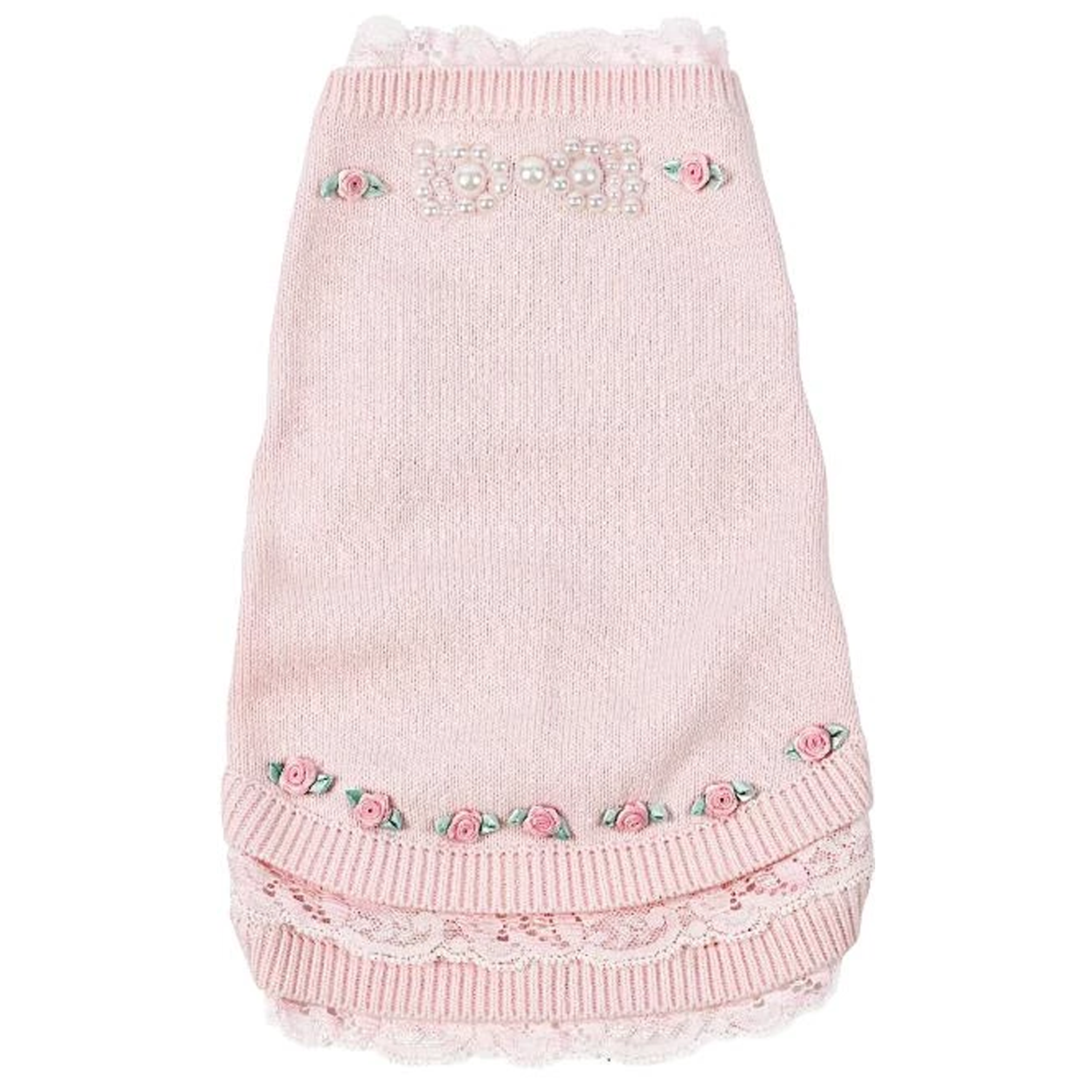 Pearls N' Roses Dog Sweater