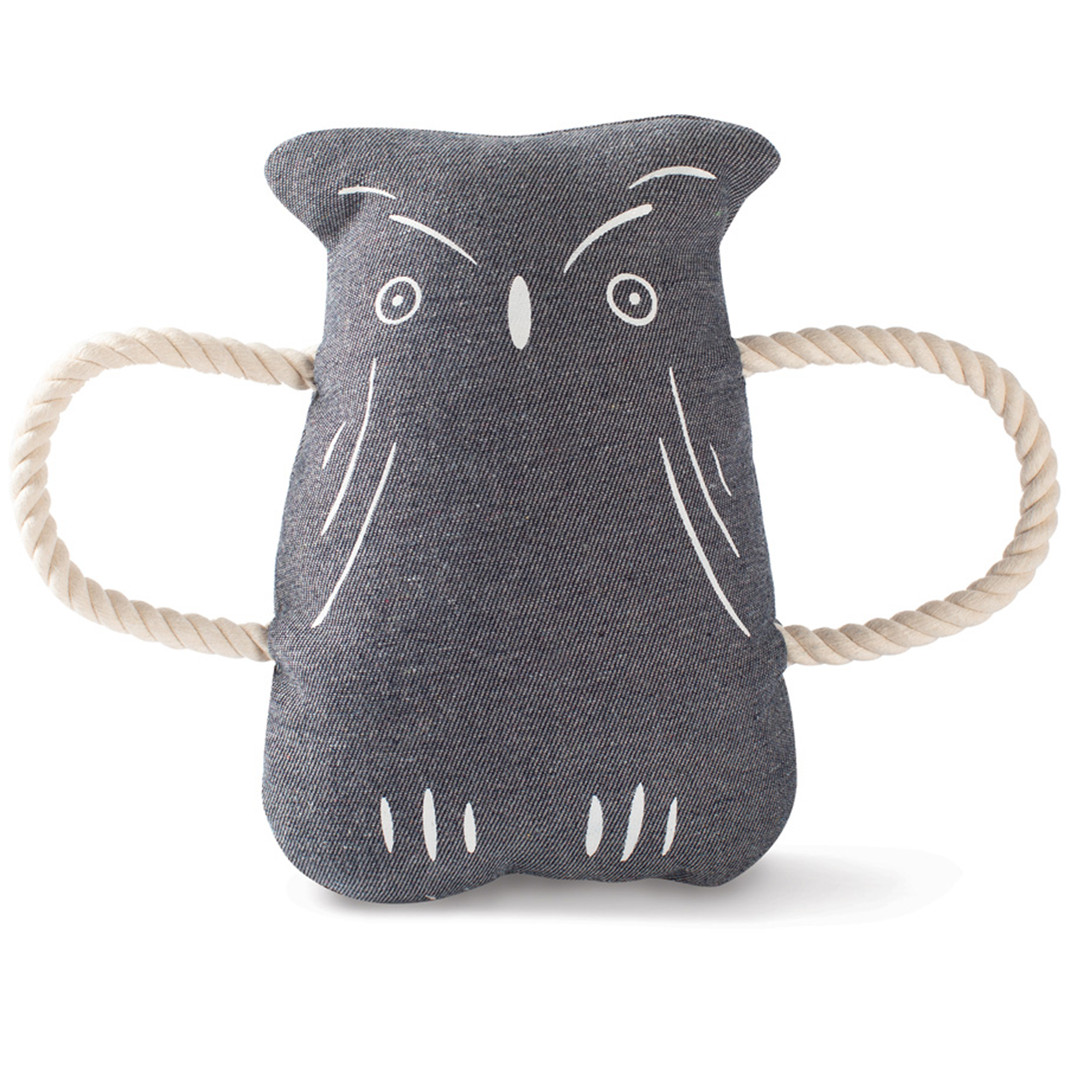 Owl Canvas Tug Dog Toy