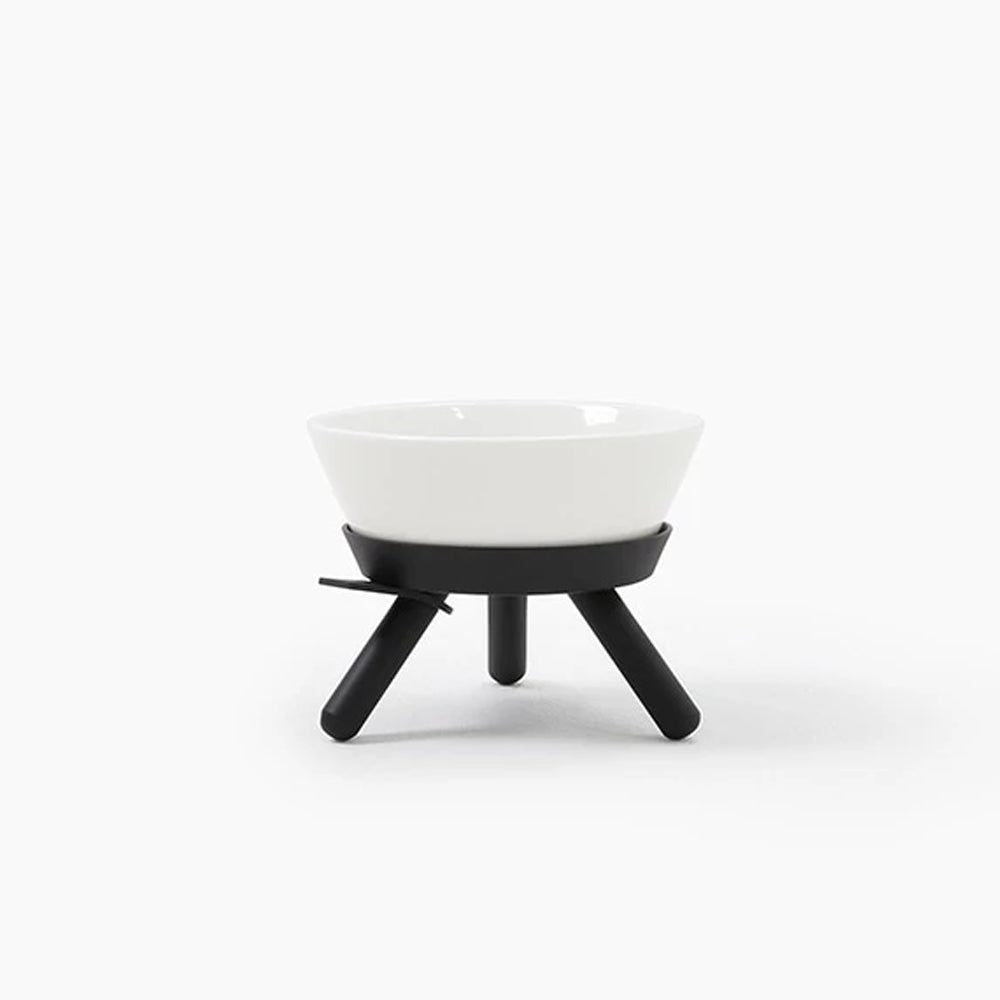 Black Modern Dog Bowl Set