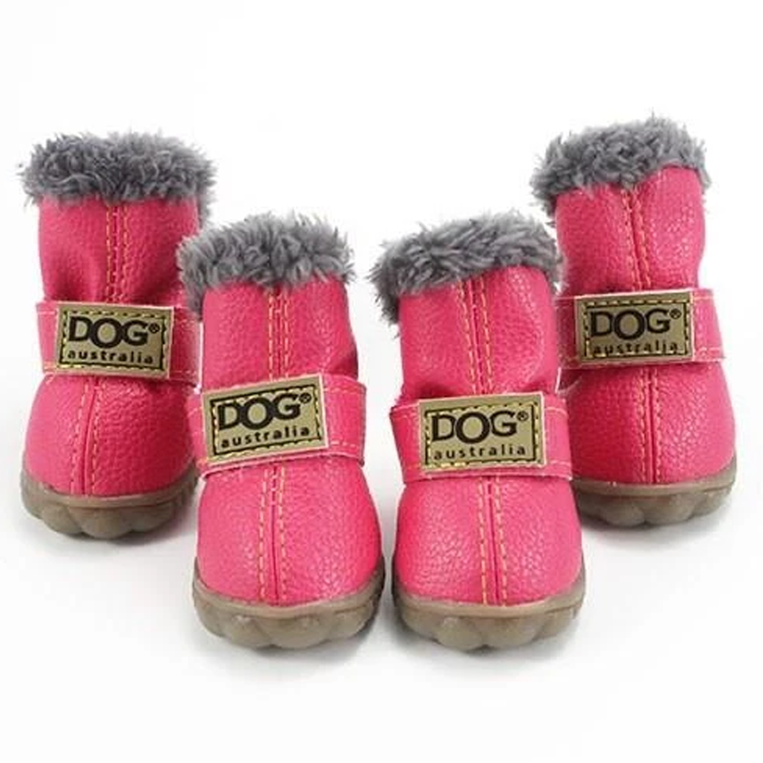 Snow Dog Boots: Pink