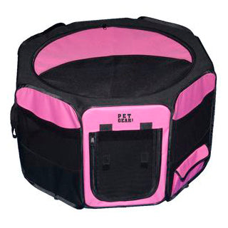 Travel Lite Octagon Pet Playpen: Pink