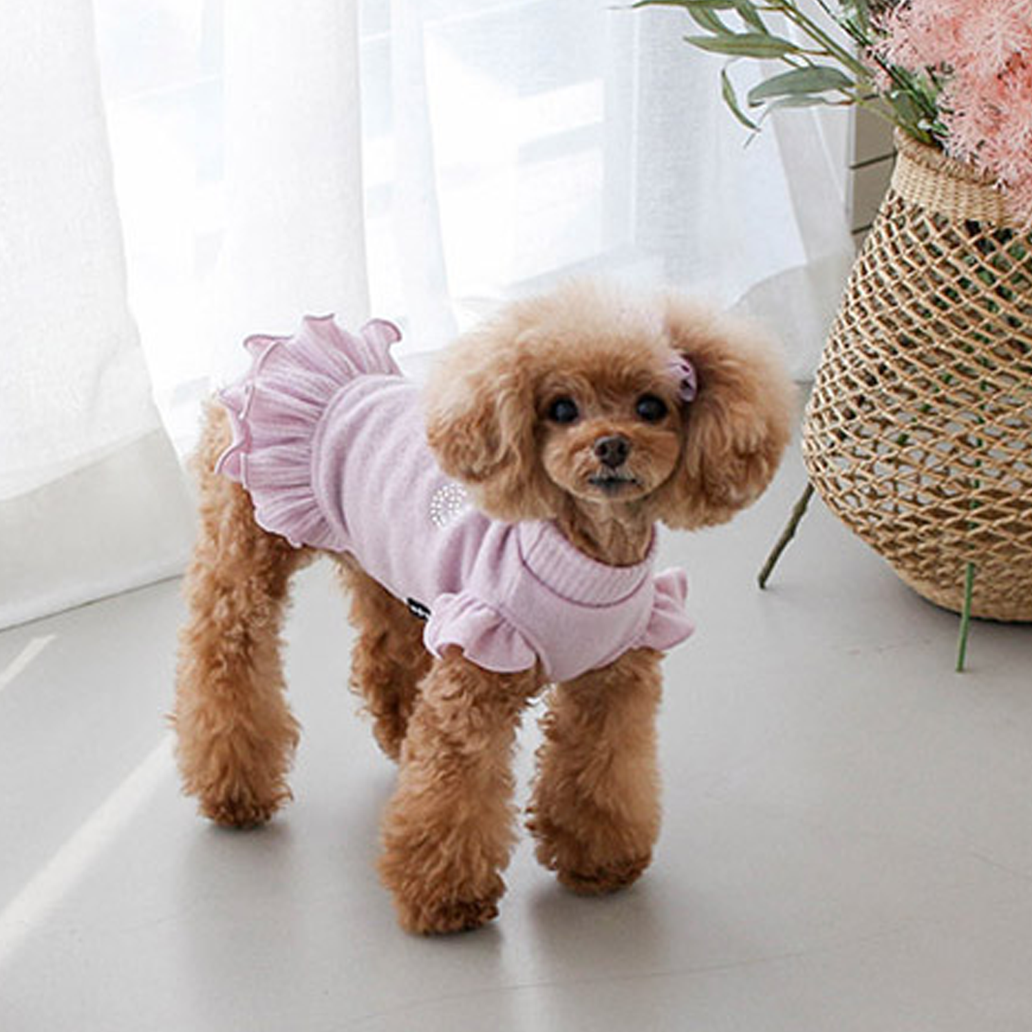 Crystal Love Dog Dress: Lavender