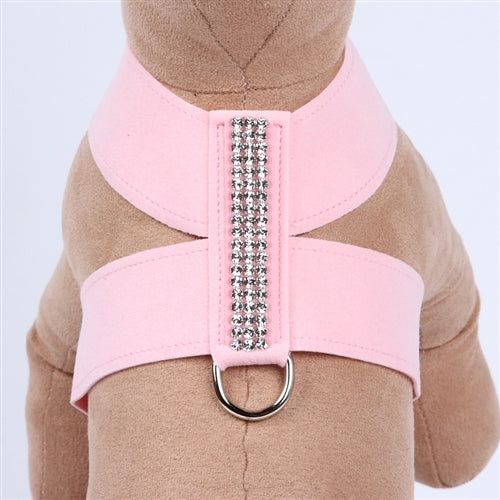 Giltmore 3-Row Crystal Pet Harness: Puppy Pink