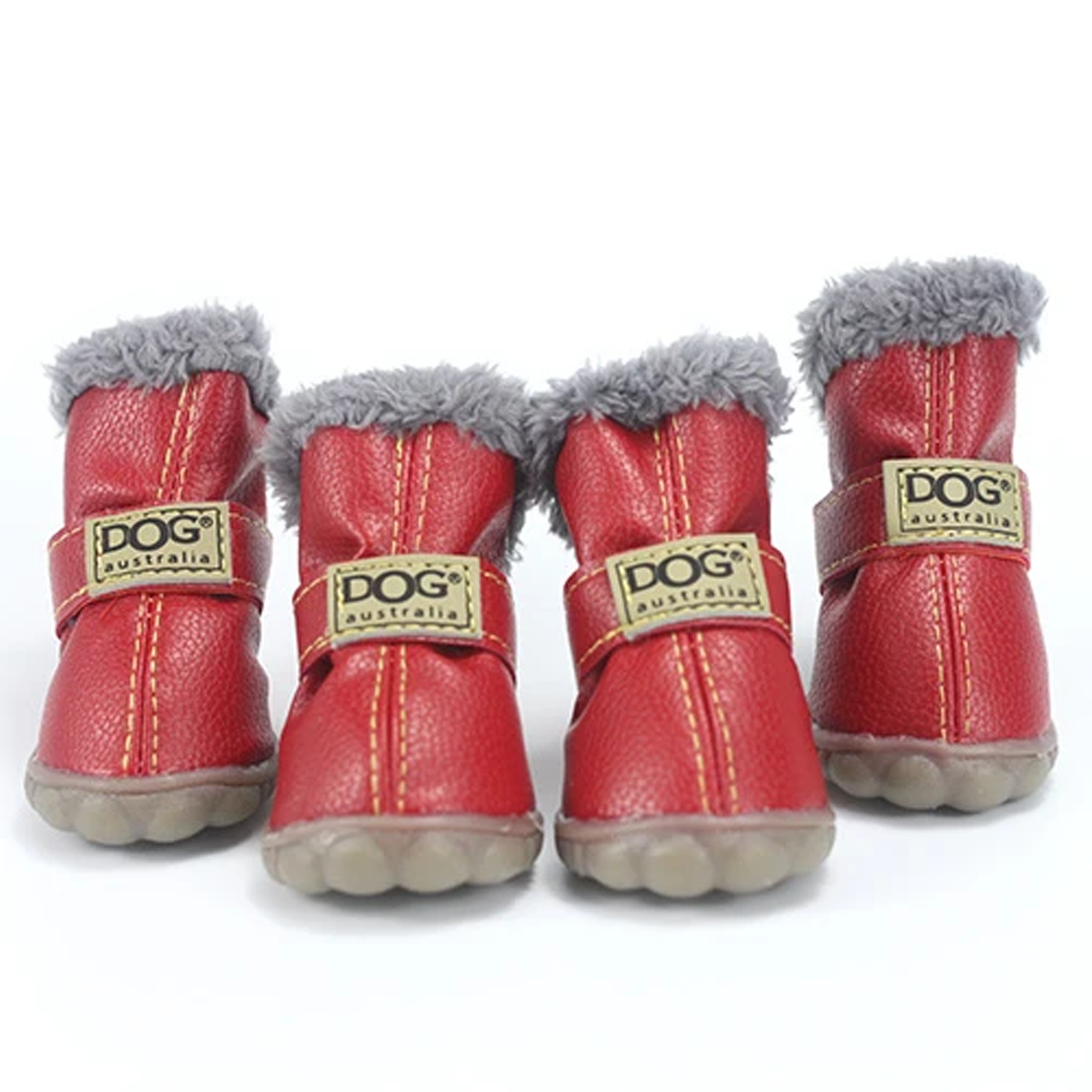 Snow Dog Boots: Red