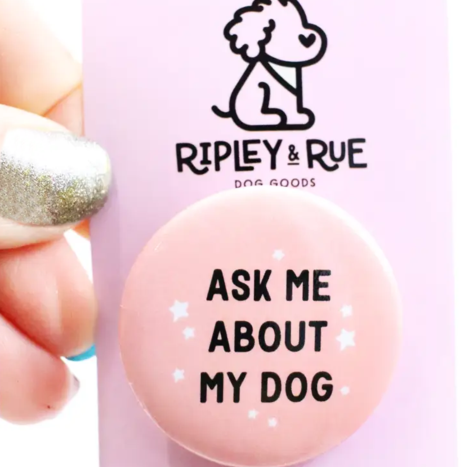 Ask Me About My Dog Button