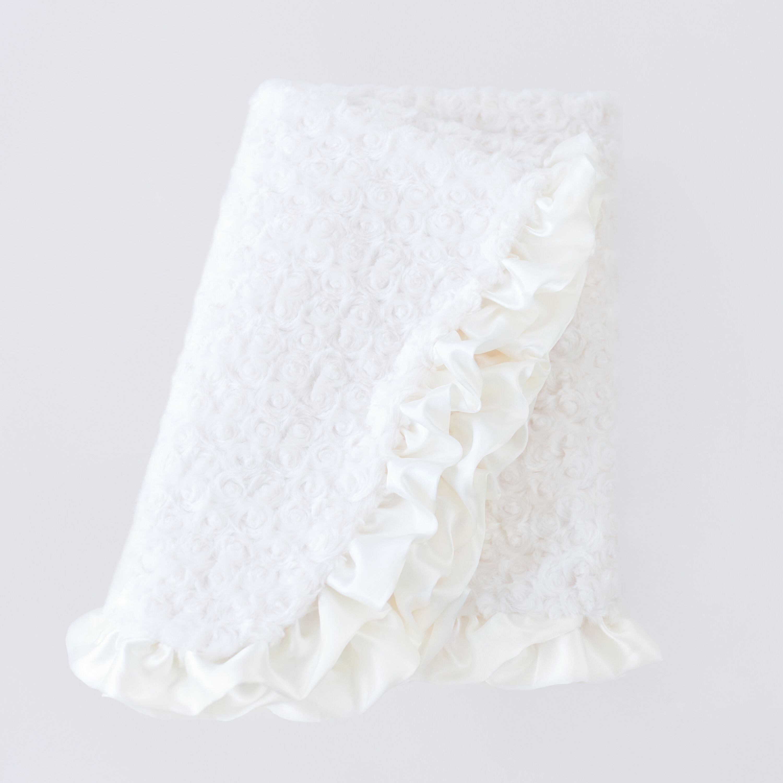 Ruffle Dog Blanket: Cream