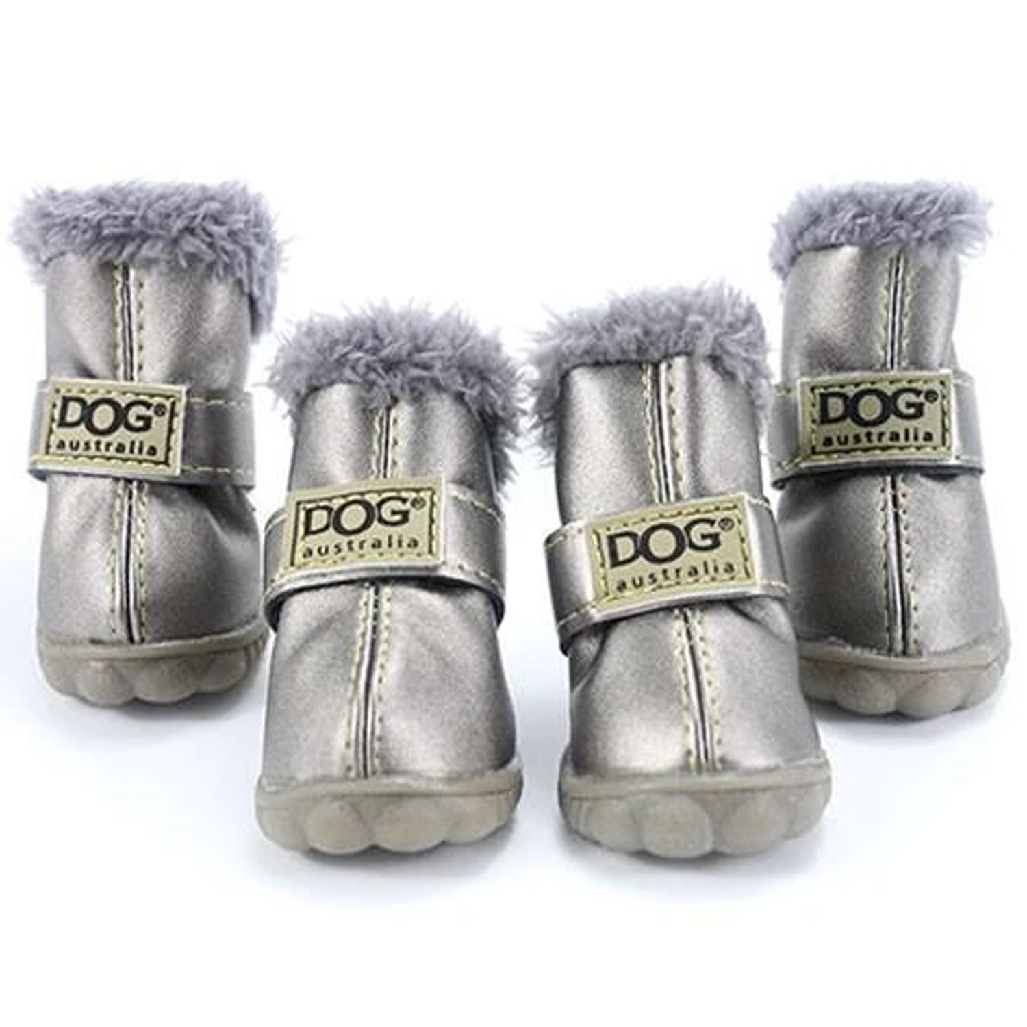 Snow Dog Boots: Silver