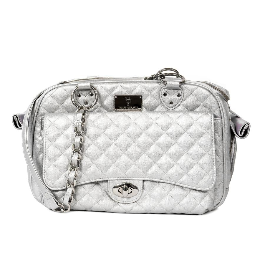 Classic Quilted Pet Carrier; Designer Pet Carrier