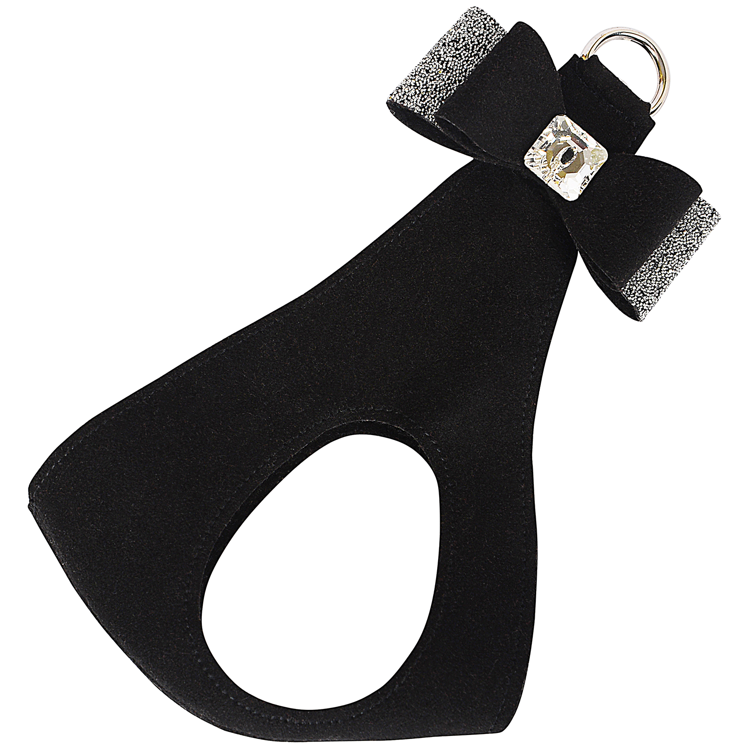 Crystal Stellar Big Bow Step-In Dog Harness: Black