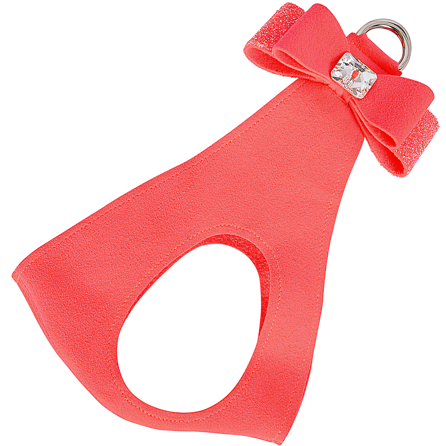 Crystal Stellar Big Bow Step-In Dog Harness: Electric Pink