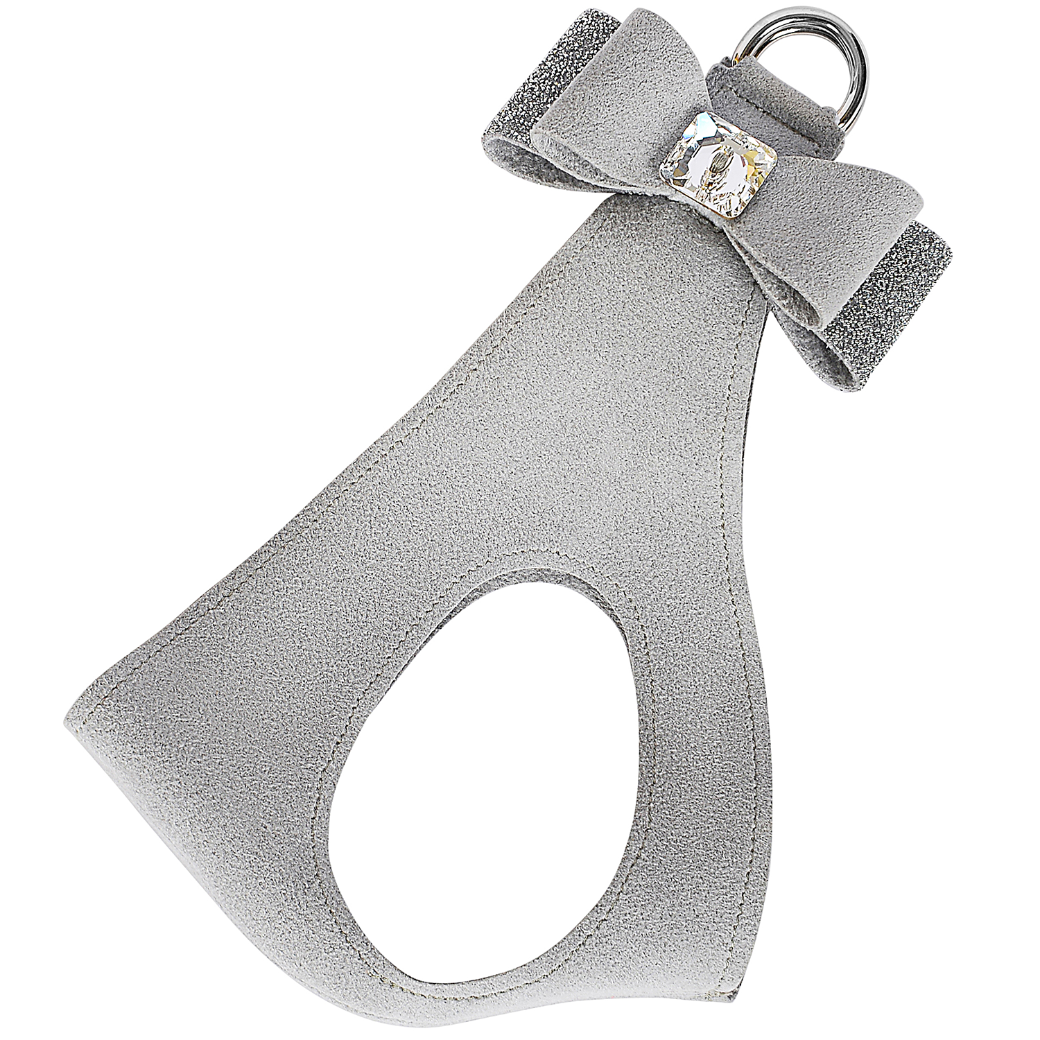Crystal Stellar Big Bow Step-In Dog Harness: Platinum