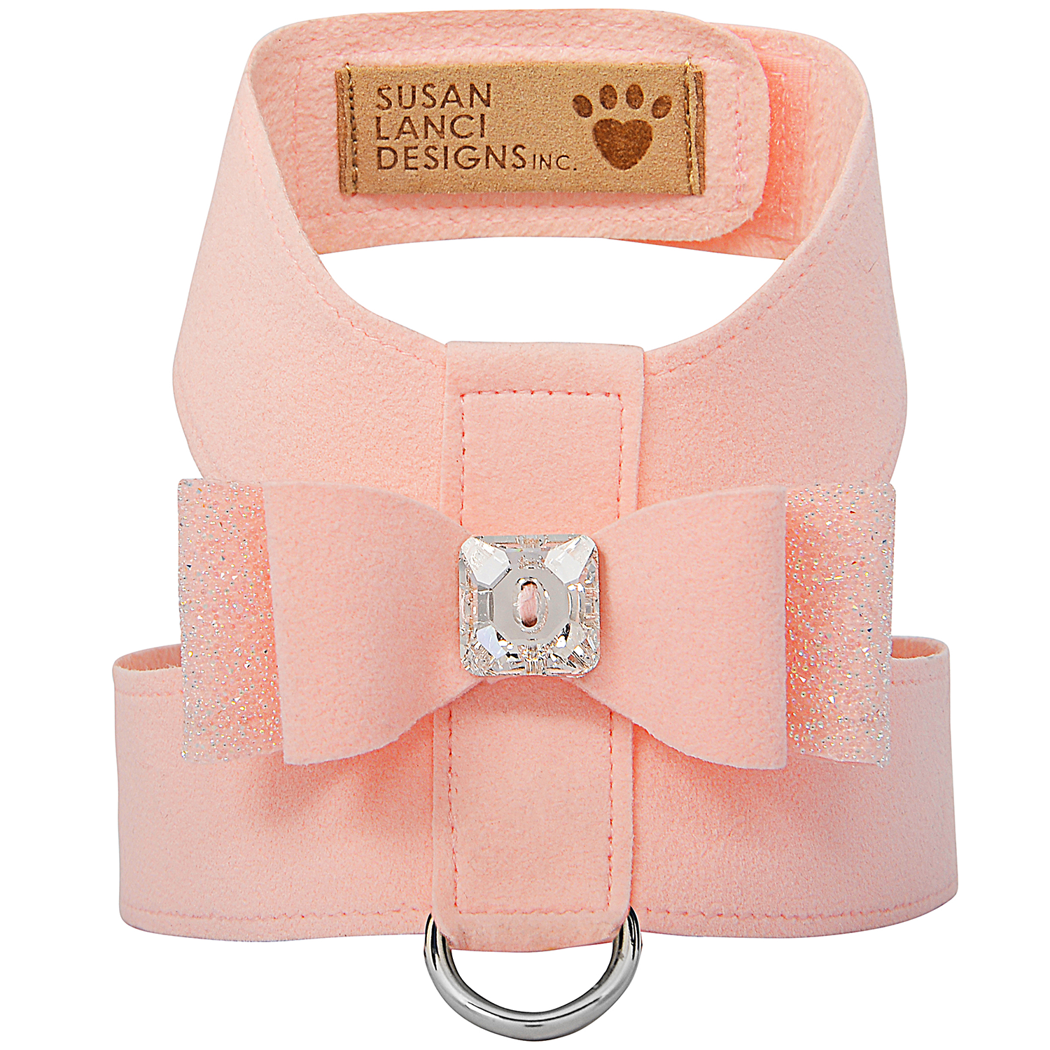 Crystal Stellar Big Bow Tinkie Dog Harness: Puppy Pink