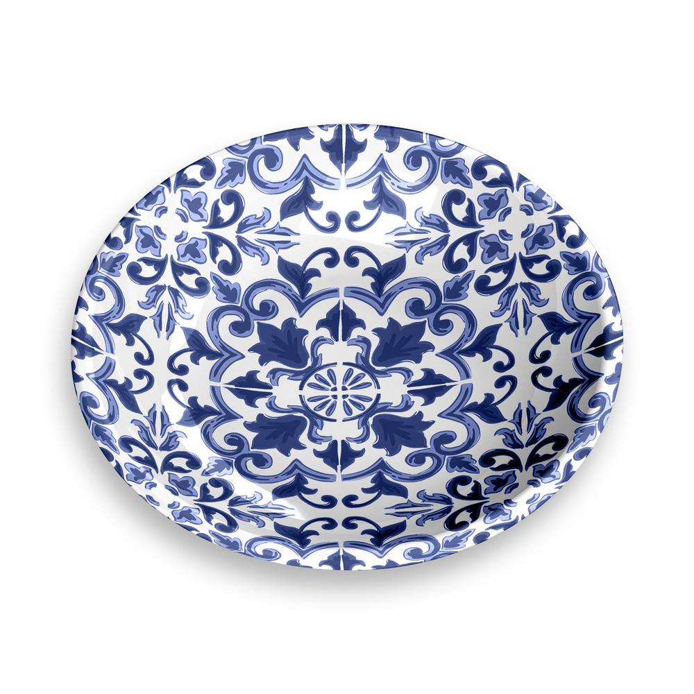 Canyon Clay Indigo Dog Saucer