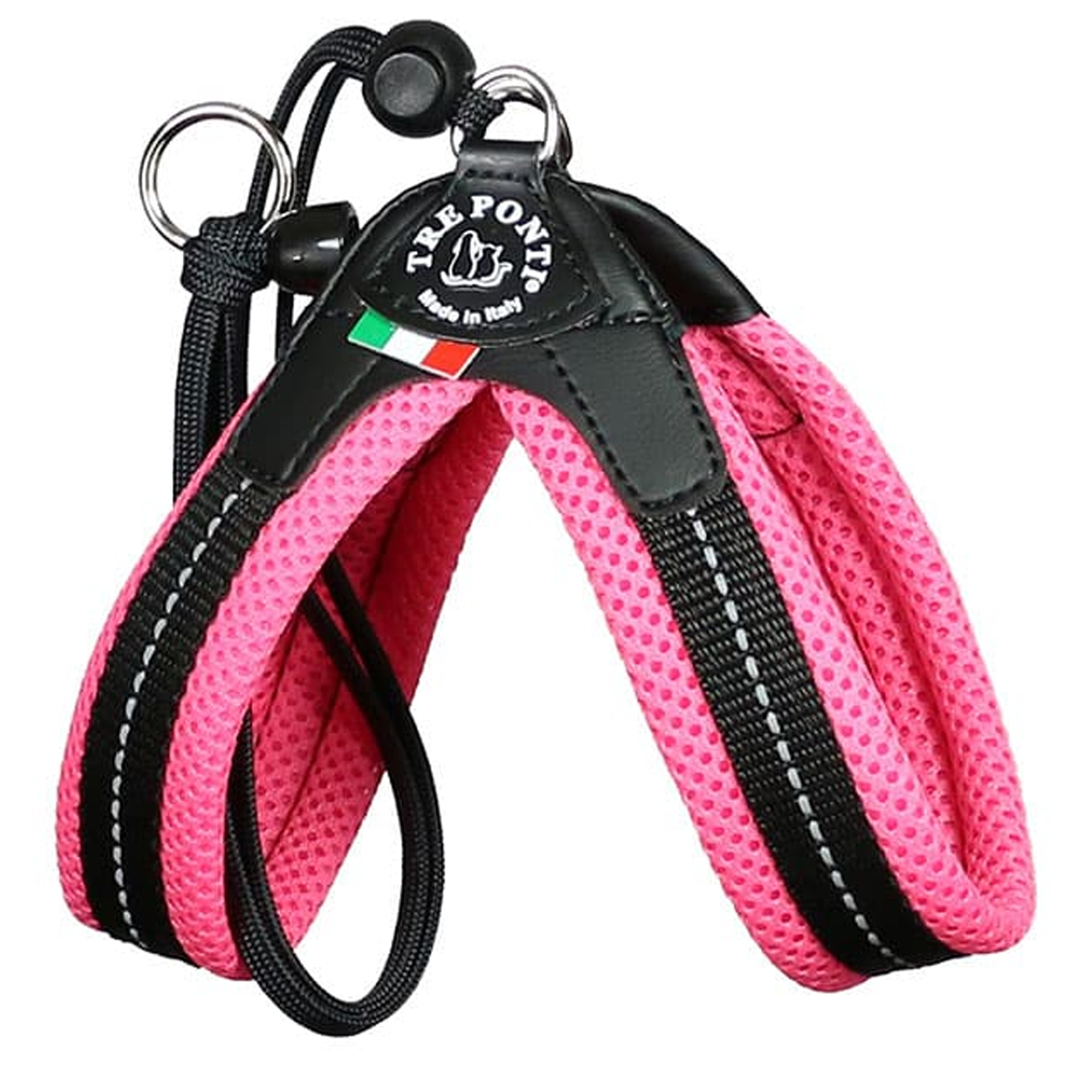 Hot Pink Mesh Strap Dog Harness