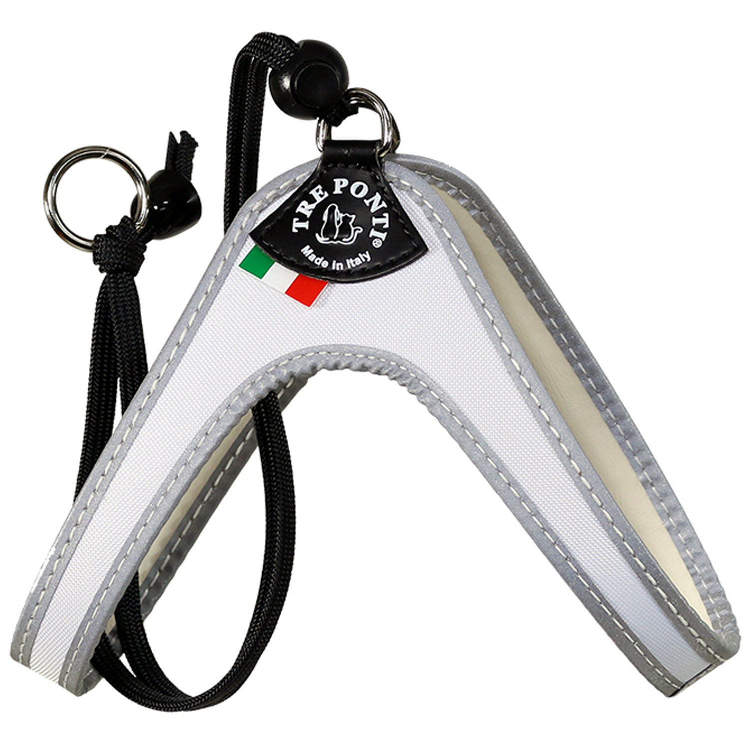 White Strap Dog Harness