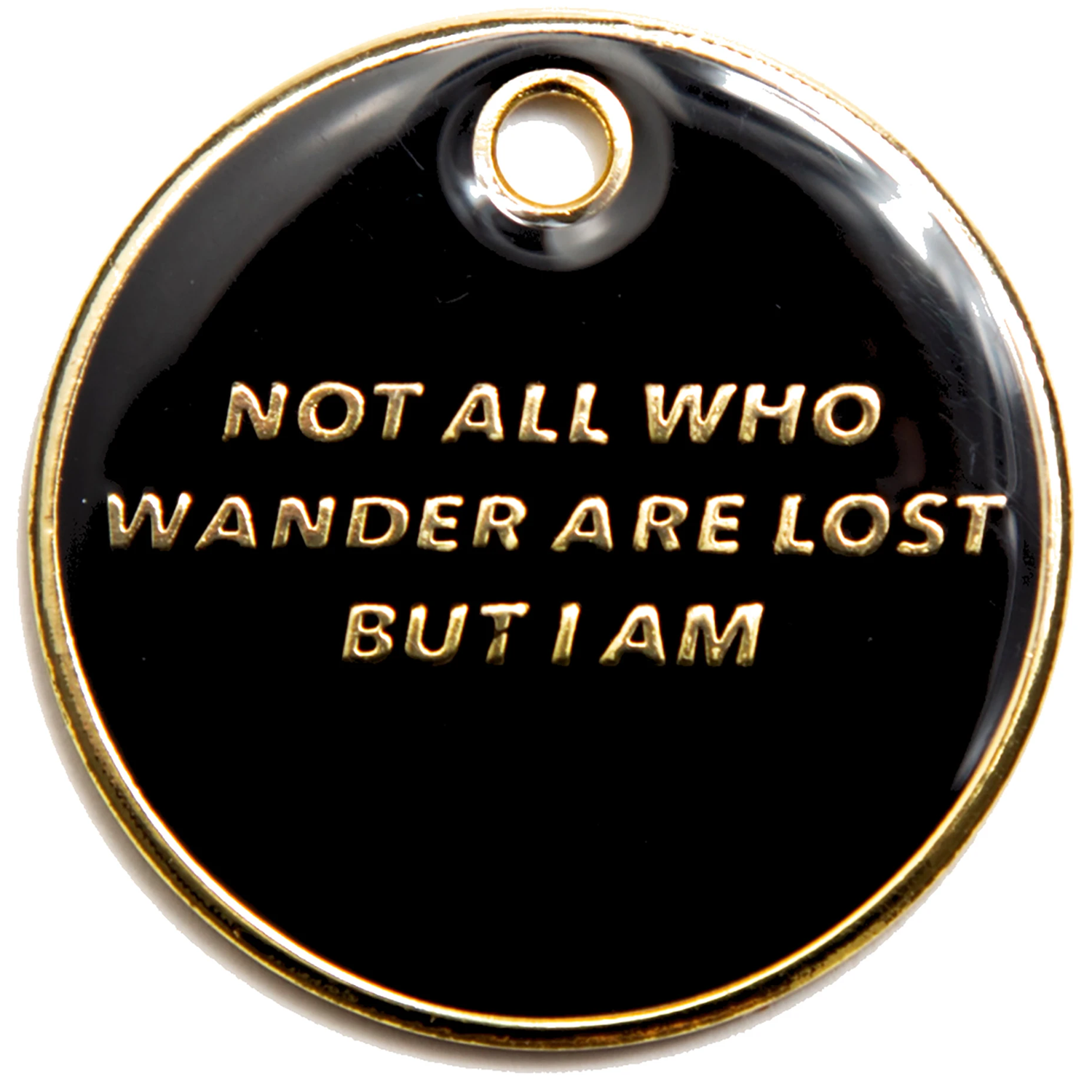 Not All Who Wander Pet ID Tag